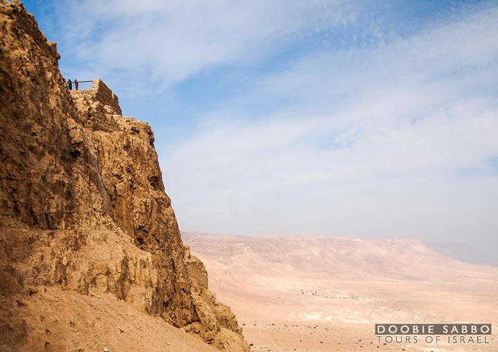 Herod the Great built palaces on the mountain of Masada.  Today there are only ruins.