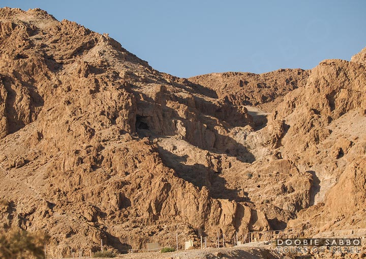 Qumran, where the Dead Sea Scrolls were discovered.